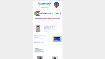 Informator br.14 - Tema: Video interfoni